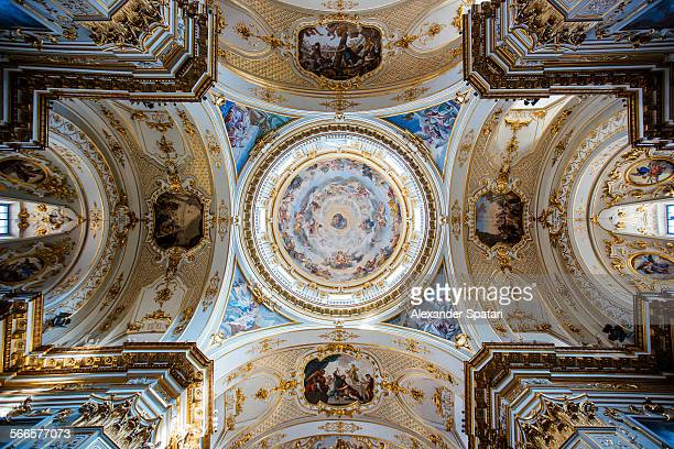 Ceiling painting in Bergamo cathedral, Italy