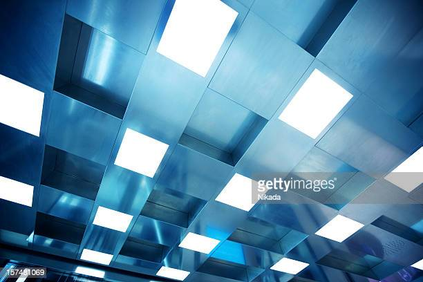 ceiling with fluorescent light