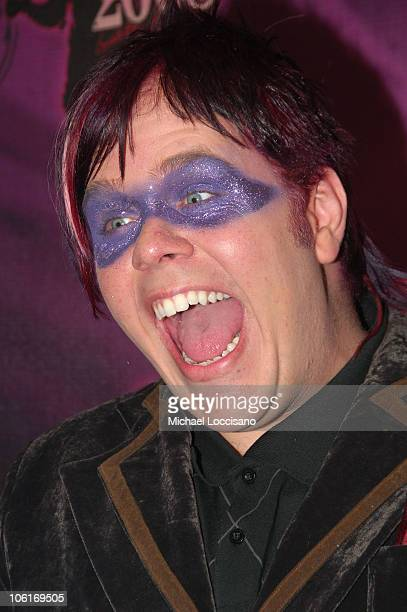Celeb blogger Perez Hilton attends the 2008 Tila Tequila's MTV New Year's Eve Masquerade party at MTV Times Square studio on December 31 2007 in New...
