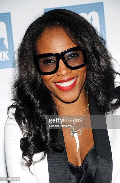 ea0b7ad303a0 Celebity Stylist June Ambrose attends a welcome party for new amNewYork  columnists at The Chelsea Room