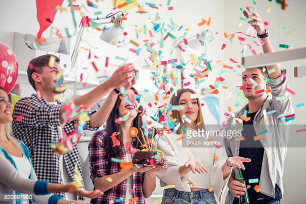 celebraiting birthday - birthday balloons stock photos and pictures
