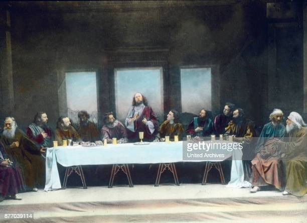 Celebrate Christ with his disciples the Lord's Supper exactly with the traditional words and the name of the traitor without the disciples of the...