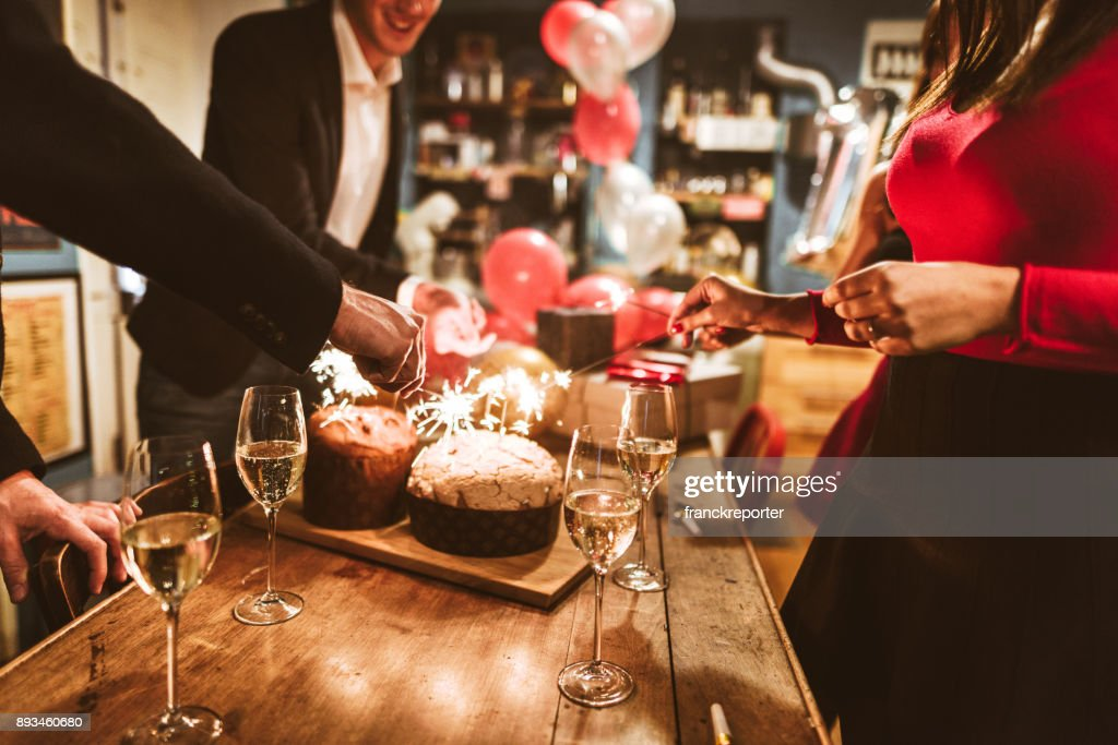 celebrate the christmas and new year  at home : Stock Photo