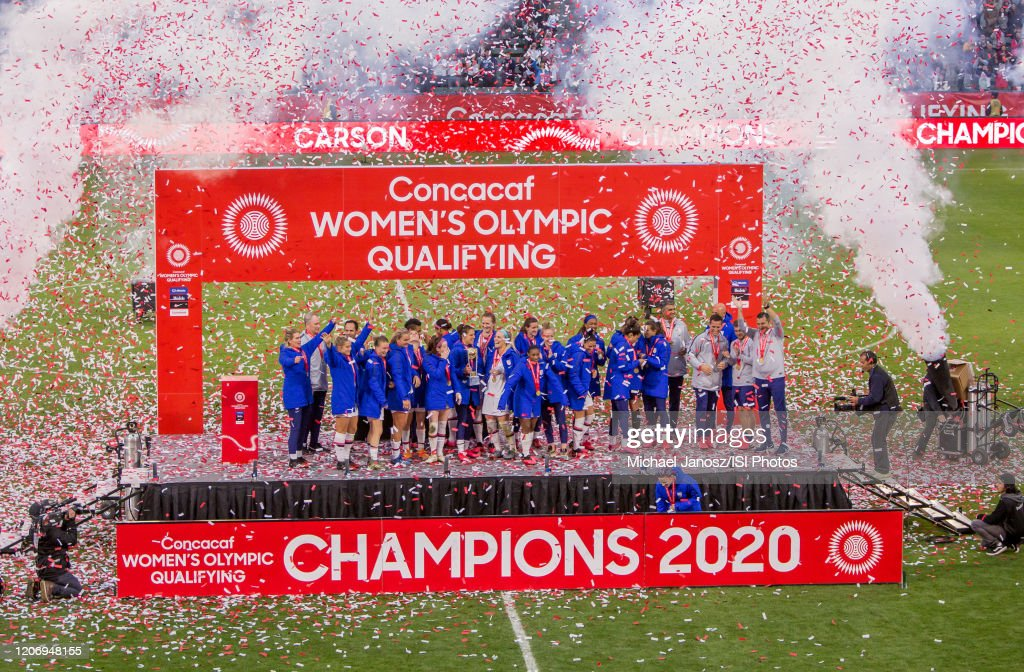 Canada v United States: Final - 2020 CONCACAF Women's Olympic Qualifying : ニュース写真