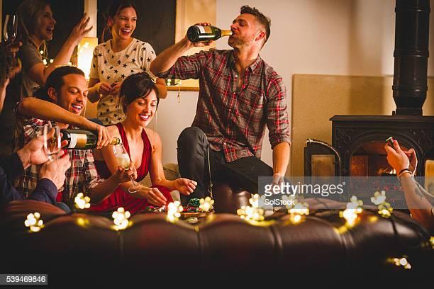 Feiern Sie mit Freunden