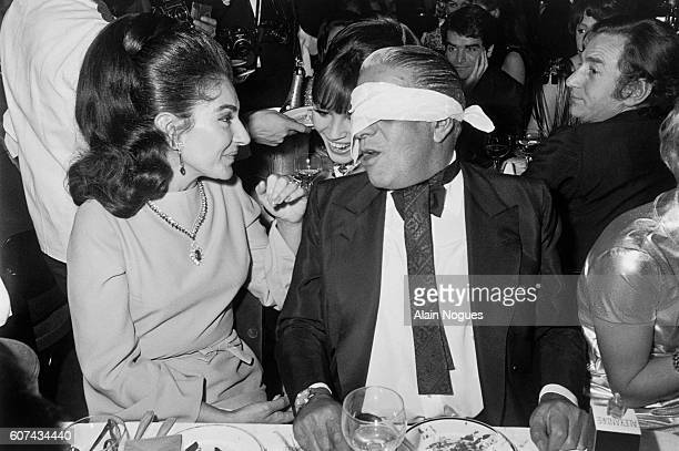 Celebrated American operatic soprano Maria Callas and Greek business tycoon Aristotle Onassis enjoy an evening out at the Lido in Paris Their love...