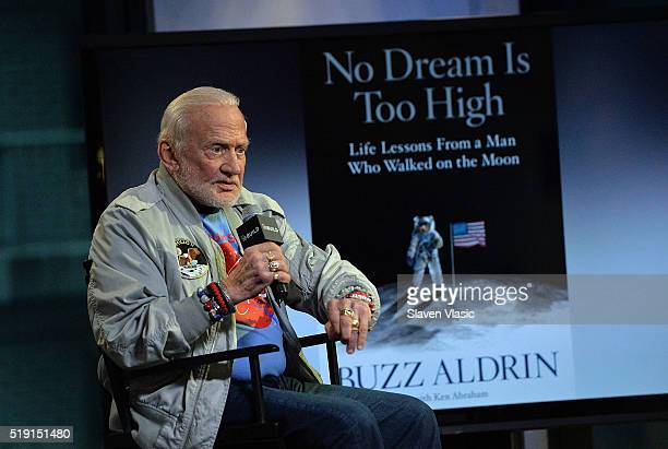 Celebrated astronaut the second person to walk on the Moon and bestselling author Buzz Aldrin discusses his new book 'No Dream is Too High' at AOL...