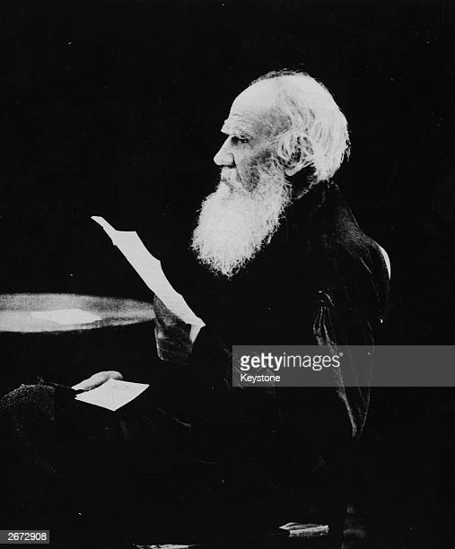 Celebrated author, moralist and aesthetic philosopher, Leo Tolstoy as an old man.