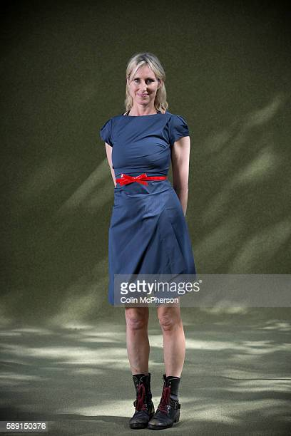 Celebrated bestselling British children's writer artist and illustrator Lauren Child pictured at the Edinburgh International Book Festival where she...