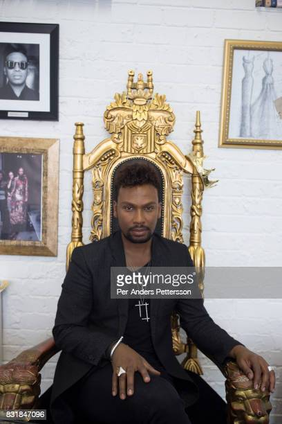 Celebrated South African fashion designer David Tlale poses for a portrait in his studio in Maboneng district on March 16 2016 in downtown...
