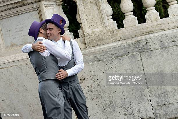Celebrated this morning at the Capitol in Rome the first samesex civil union under Cirinnà Law Spouses are Villarusso Francisco Raffaele 43 years and...