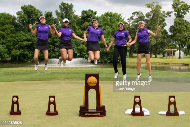 NYU celebrates after winning the team national title during the Division III Women's Golf Championship held at the Bay Oaks Country Club on May 17...