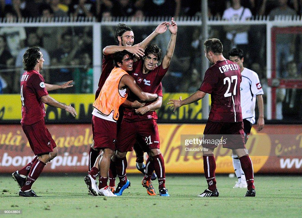 Celebrates of Nicolas Viola of Reggina during the Serie B ...