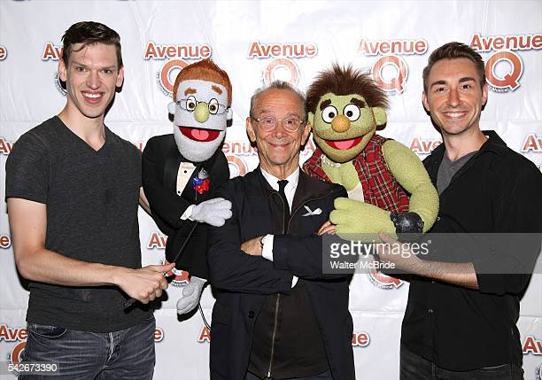 Celebrates pride weekend. Rod , Joel Grey and Ricky celebrate backstage after renewing their vows at New World Stages on June 23, 2016 in New York...