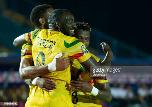 MAREGA celebrates scoring Mali's second goal during the 2019 Africa Cup of Nations Group E match between Mali and Mauritania at Suez Stadium on June...