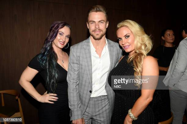 EVENTS 'NBC Celebrates the 20182019 Season in New York City on Thursday September 20 2018 at the Four Seasons' Pictured Kristy Austin Derek Hough of...
