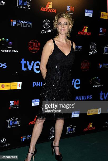 Celebrating awards of Television TP de Oro 2009 in Discotheque Pacha in Madrid The arrival of the actress Belen Rueda 20th January 2010 Spain