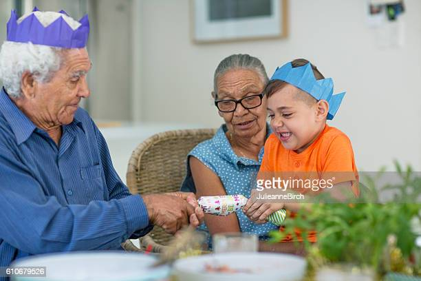 Celebrating Christmas with Grandparents