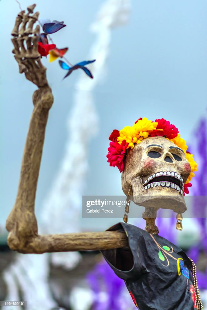 Celebrating Day of the Dead in Mexico City : ストックフォト