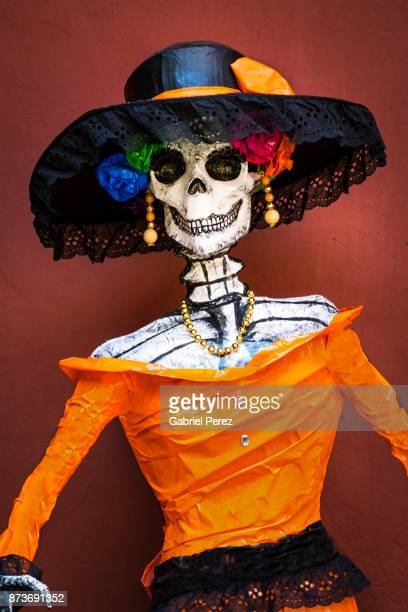 celebrating day of the dead in mexico city - day of the dead festival stock photos and pictures