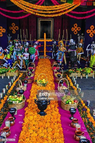 celebrating dia de los muertos in mexico city - dia de muertos stock photos and pictures