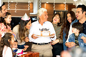 Celebrating grandfather's birthday