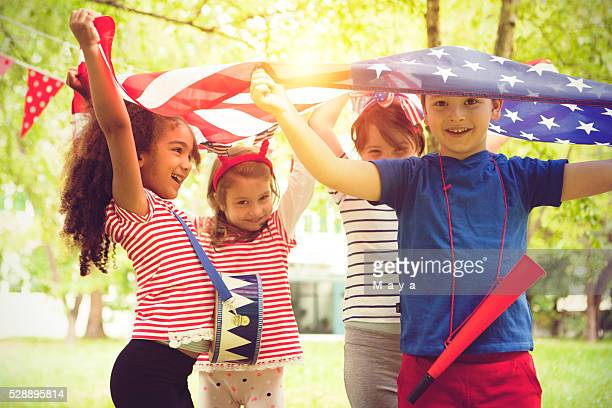 celebrating independence day - independence day stock pictures, royalty-free photos & images