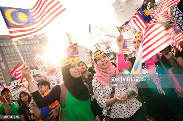 celebrating malaysia day - malaysian culture stock pictures, royalty-free photos & images