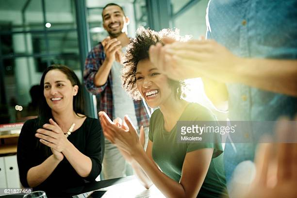 celebrating our achievements together - african american ethnicity photos stock photos and pictures