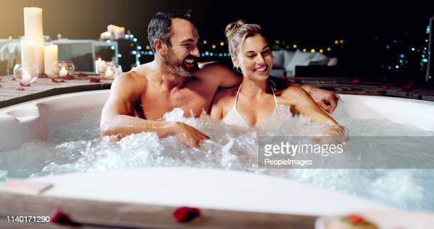 celebrating our love the best way we know how - hot tub stock pictures, royalty-free photos & images