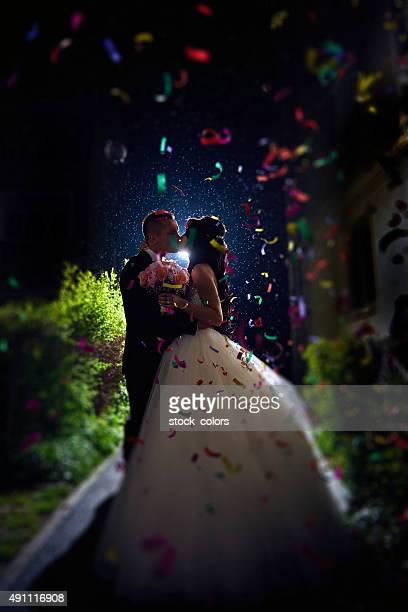 celebrating our wedding