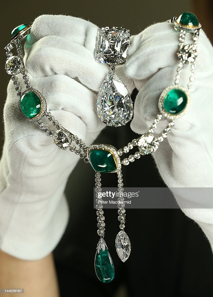 Jewellery Made From The World's Largest Diamond Is Prepared for Jubilee Exhibition : News Photo