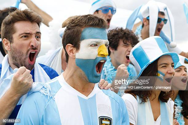 Celebrating Screaming Fans of Argentina