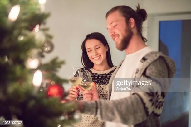 young heterosexual couple enjoying their romantic