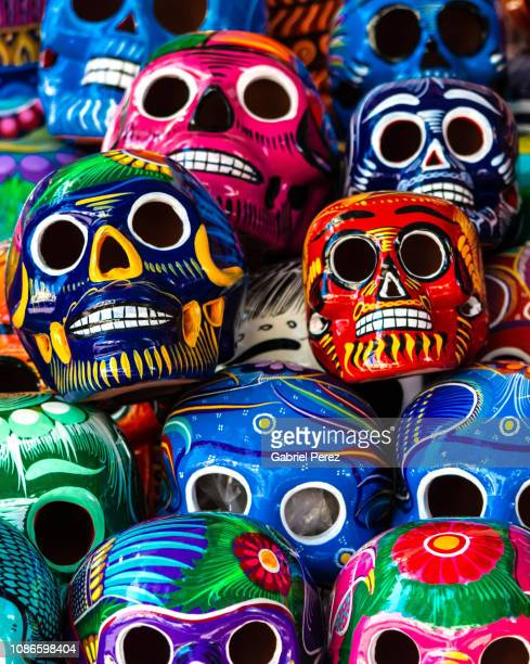 celebrating the day of the dead in oaxaca - dia de muertos fotografías e imágenes de stock