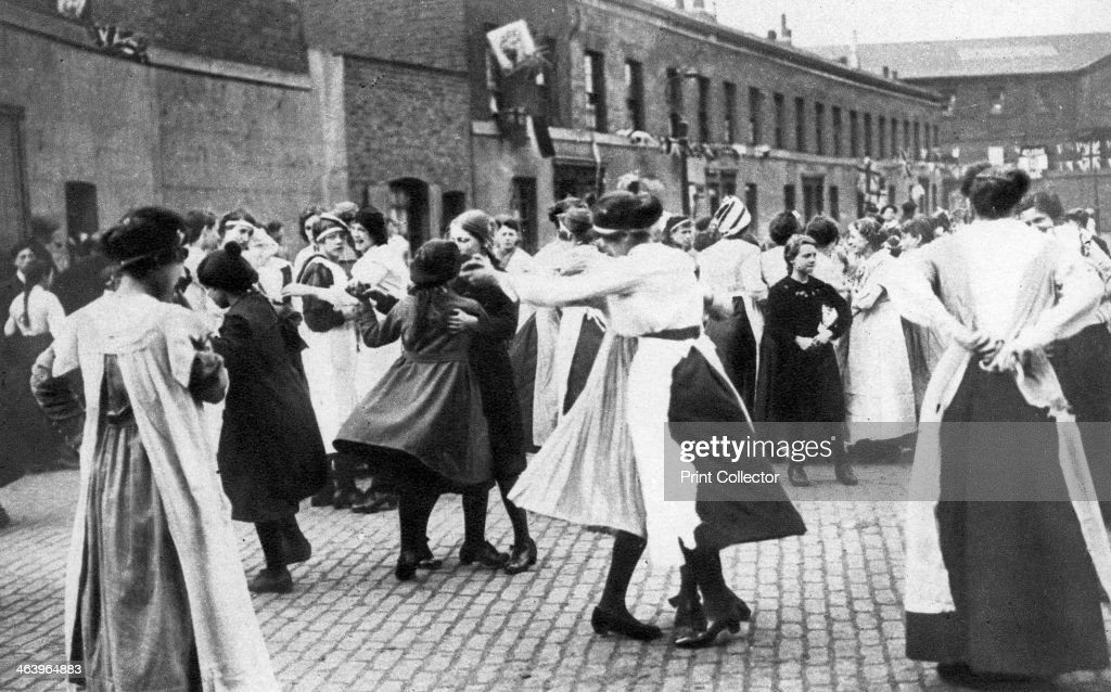 Celebrating the end of the First World War, 1918, (1935). : News Photo