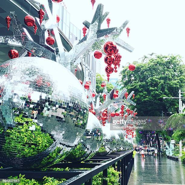 Celebrating the holiday season with a disco twist on Orchard Road in Singapore November 2015