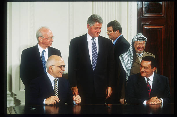 Celebrating The Signing Of The West Bank Peace Agreement Pictures