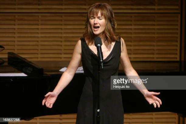 'Celebrating the Lyrics of Alan and Marilyn Bergman' at Zankel Hall on Wednesday night November 1 2006This imageLari White performing