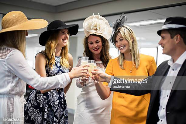 Celebrating the Melbourne Cup in the offfice