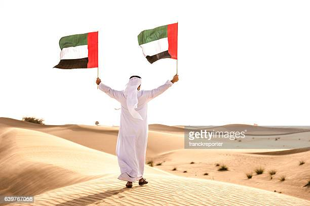 celebrating the uae national day on the desert - flag stock pictures, royalty-free photos & images
