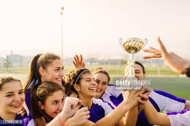 het vieren van de overwinning - the championship voetbalcompetitie stockfoto's en -beelden