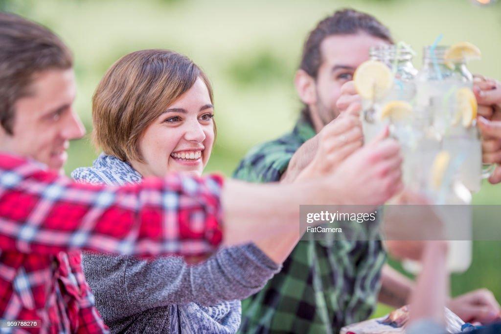 Gemeinsam feiern : Stock-Foto
