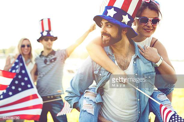 celebrating united states - fourth of july stock photos and pictures