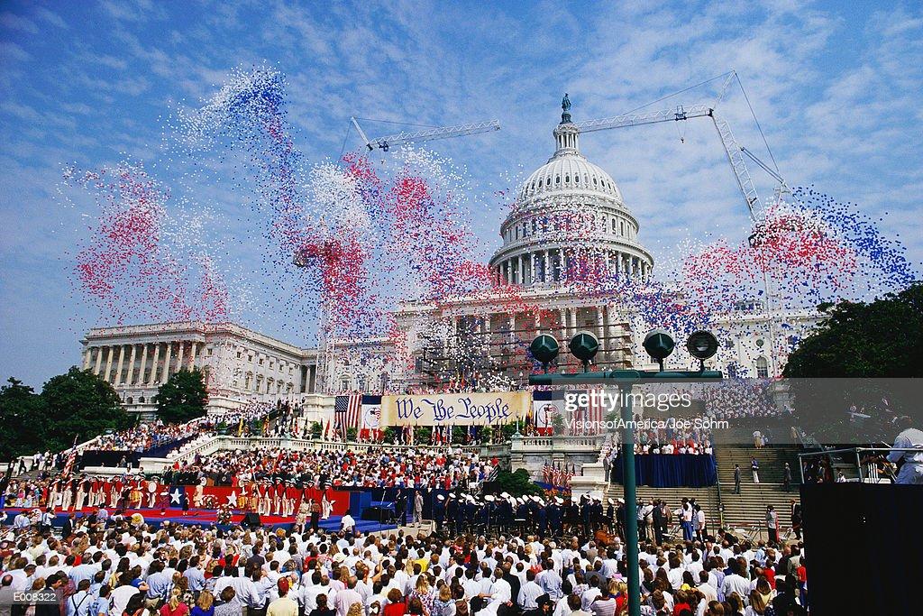 Celebration at the Capitol building, Washington, DC : Stock Photo