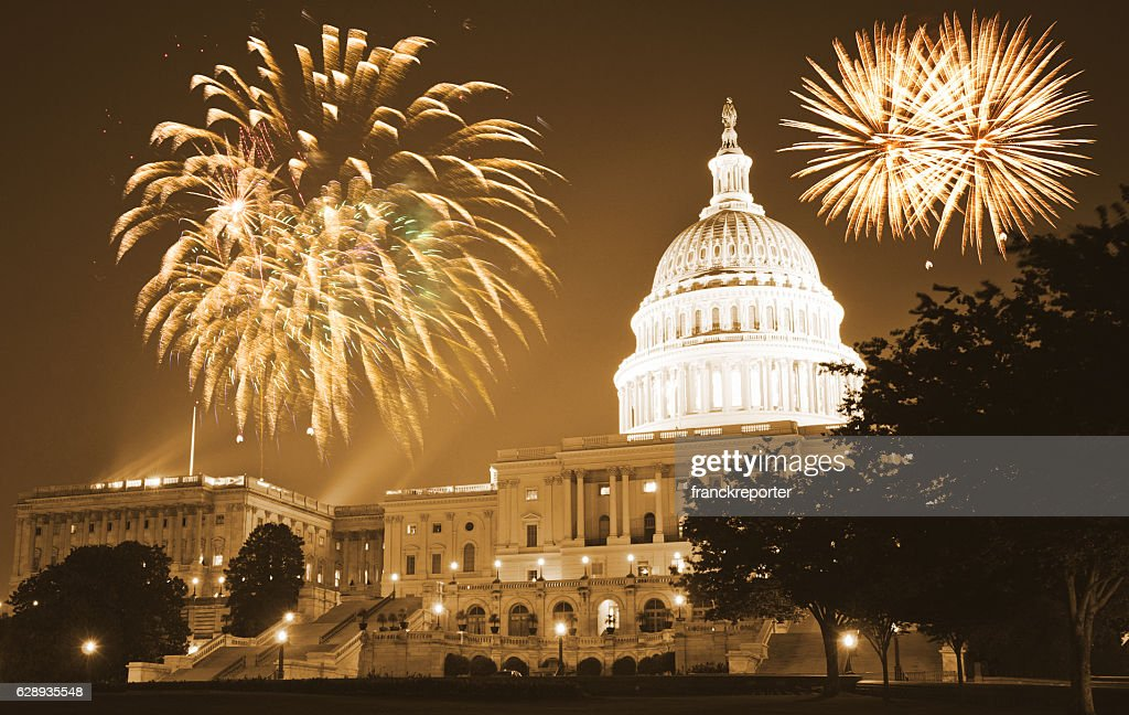 celebration day in washington dc for the new year : Stock Photo