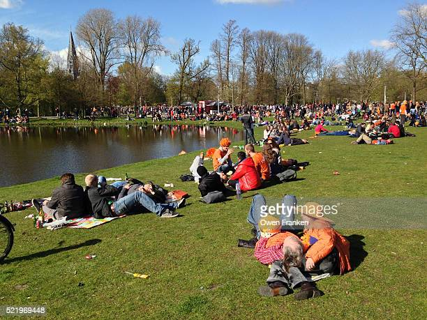 Celebration during Queensday in Amsterdam