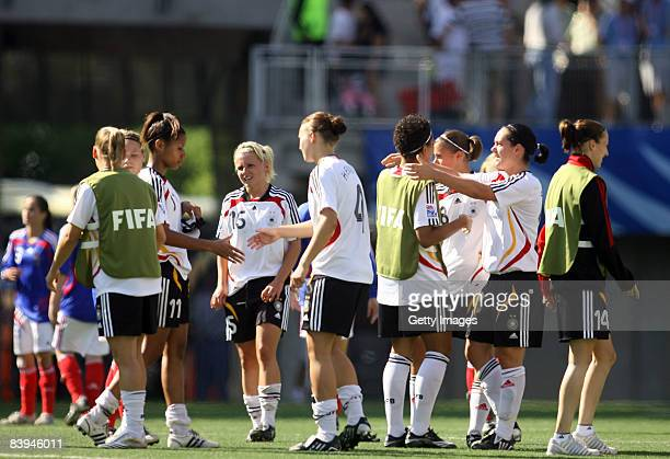Celebration during the FIFA U20 Women's World Cup between France U20 and Germany U20 at the Estadio Municipal de la Florida on December 7 2008 in...