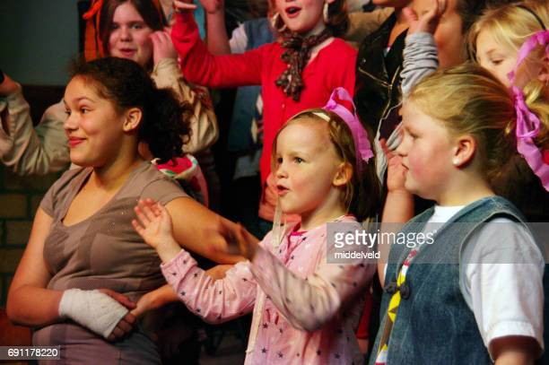 celebration event for children. - acting performance stock pictures, royalty-free photos & images