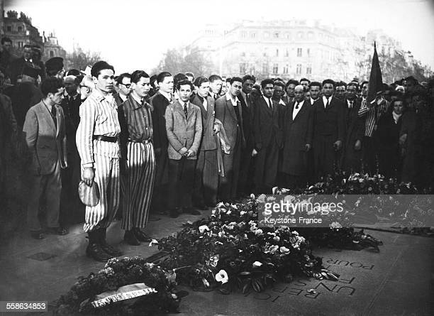 Celebration for the second anniversary of the liberation of Buchenwald concentration camp in Paris France on April 11 1947
